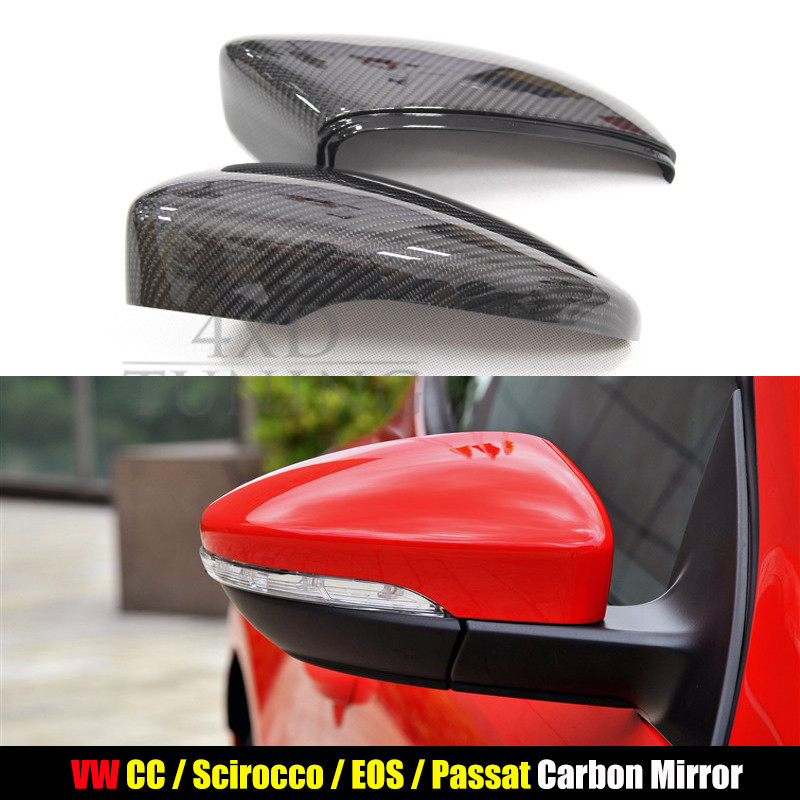 For Volkswagen VW passat CC Carbon Fiber Morrir Cover Rear View With Assist & Replacement & Add on 2009 2010 2011 2012 2013 2014 car rear trunk security shield shade cargo cover for nissan qashqai 2008 2009 2010 2011 2012 2013 black beige