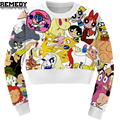 New K-POP Fashion Women Cartoon Sweatshirt Print Cat/Pikachu/Pokemon Short Sweatshirts harajuku 3d hoodies Sweatshirts For Women