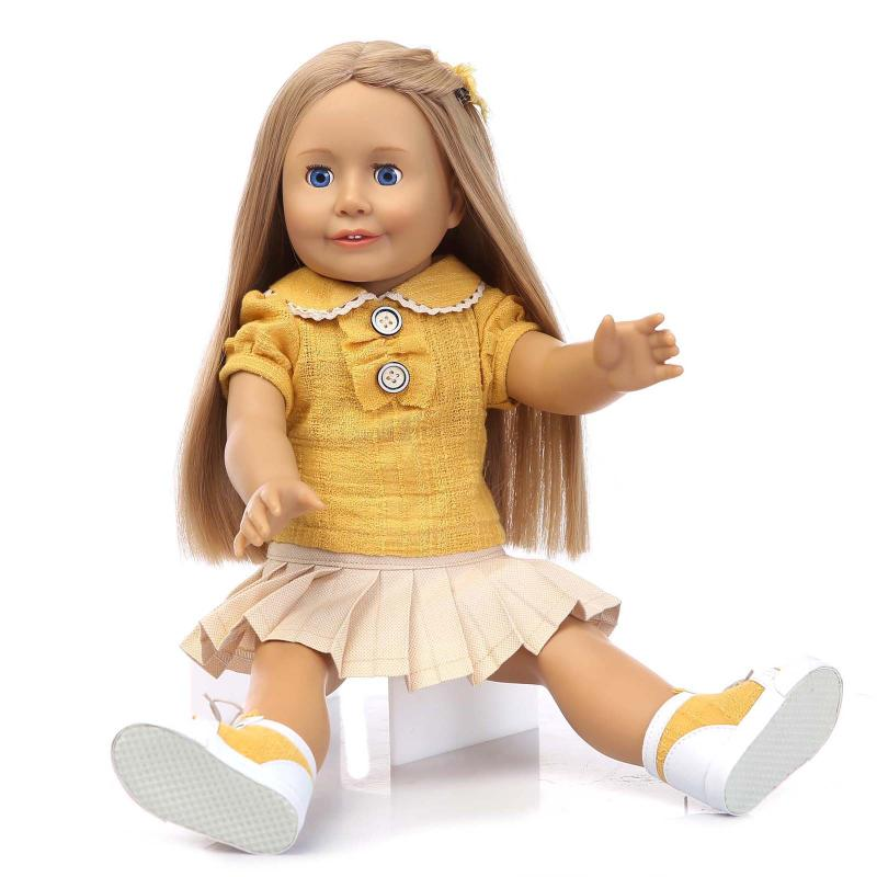 New   Girl Doll AMERICAN PRINCESS Doll 18 Inch/45 cm, Soft Plastic Baby Doll Plaything Toys for Children 2017 fashion genuine leather men briefcase cowhide men s messenger bags 15 6 laptop business bag luxury lawyer handbags li 1832