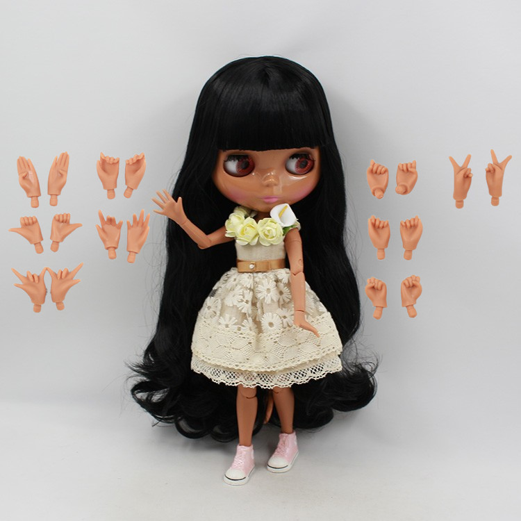 Nude Doll 280BL117 With JOINT body Long black hair with bangs/fringes toy gift bjd 1/6 30cm blyth doll factory blyth doll c gonzalez alternative methodologies for social assessment of environmental projects