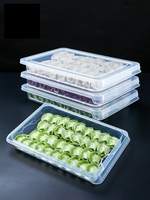 Kitchen dumpling box fresh storage box storage box refrigerator refrigerated box dumpling tray