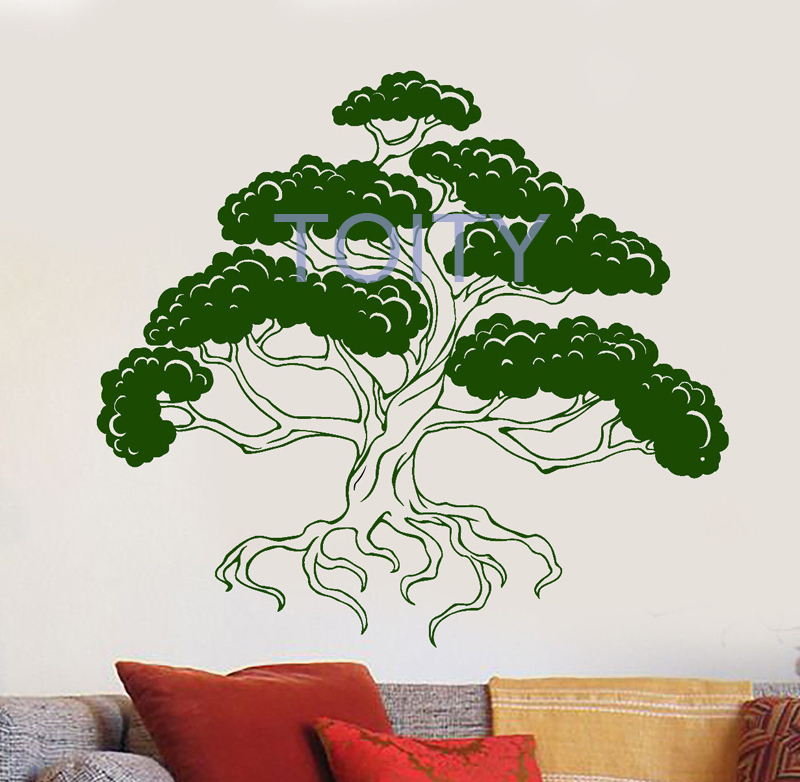 Bonsai Japanese Art Tree Wall Sticker Asian Style Decor