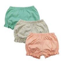 Летние шорты для маленьких девочек; однотонные шорты свободного кроя для маленьких девочек; летняя одежда для девочек; шаровары для маленьких девочек