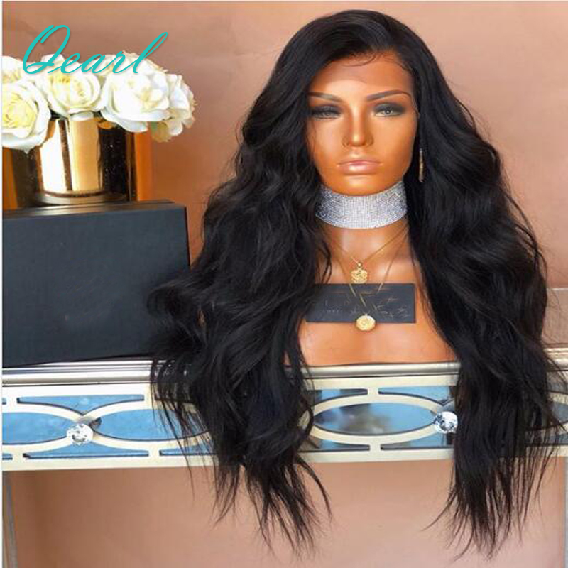 Qearl Hair 180% Long Body Wave 360 Lace Frontal Wigs Pre-Plucked Hairline With Baby Hair Remy Hair Lace Wigs For Black Women