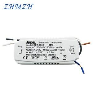 Image 1 - JINDELI Transformador electrónico AC220V a AC12V, 60W, 105W, 120W, 160w, para lámpara halógena de cristal G4, cuentas, transformadores de iluminación CE
