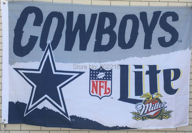 Dallas Cowboys Miller Lite 3x5 Feet Flag Banner 1996