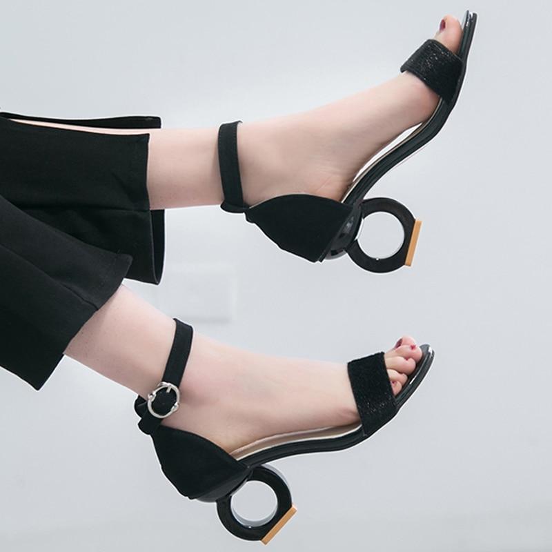 8e797cac9 HEE GRAND/босоножки, женские модные туфли-лодочки, летние туфли на среднем  каблуке