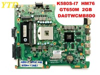 Original for HASEE K580S i7 laptop motherboard K580S I7 HM76 GT650M 2GB DA0TWCMB8D0 tested good free shipping
