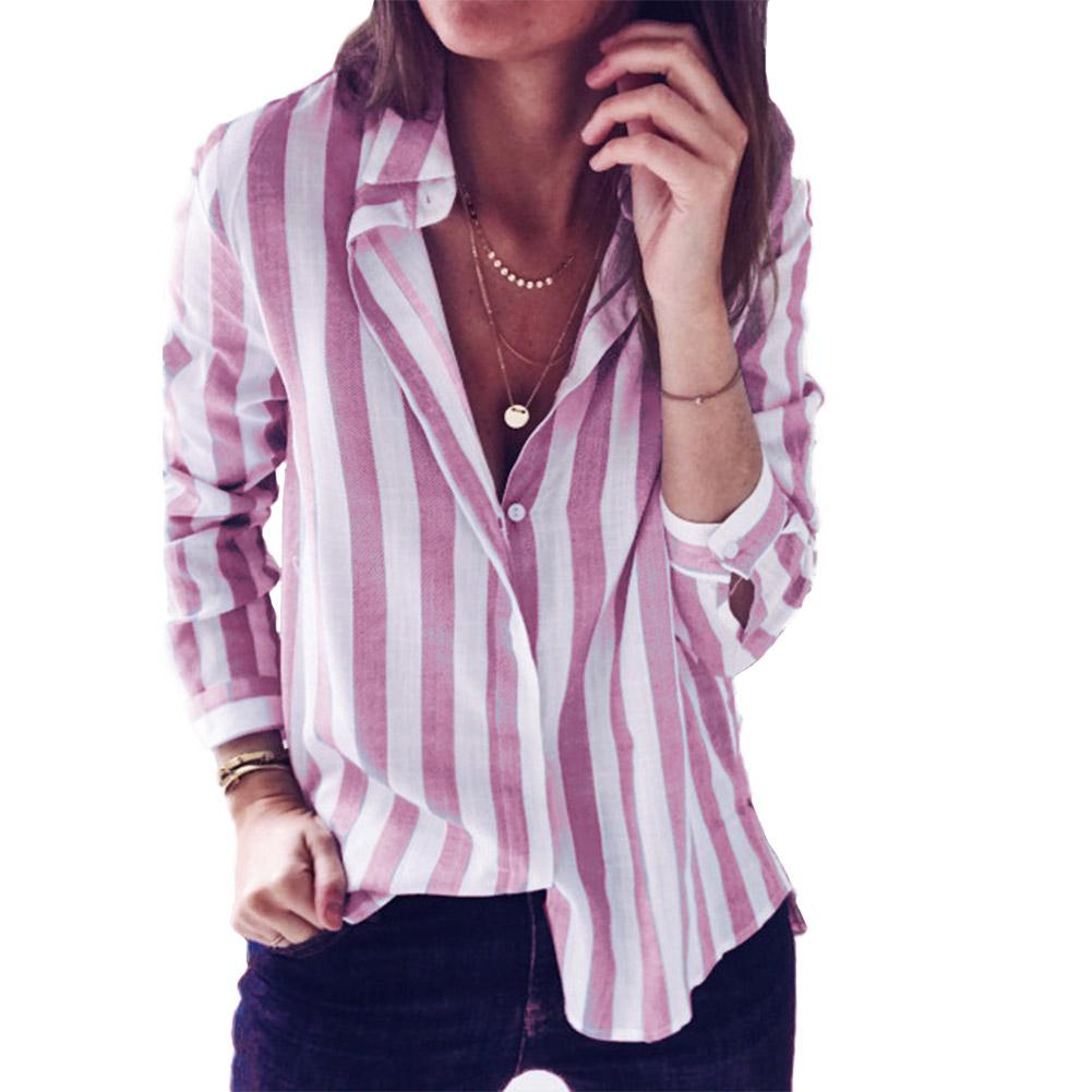Yiwa Women Casual Stripe Long Sleeve breathable fabric soft lightweight comfortable to wear gift 2019