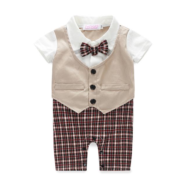 Baby Boy's Cotton Short Sleeve Romper