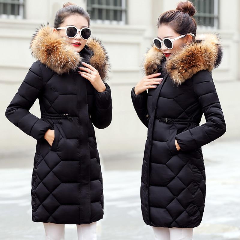 Echtpelz Kragen Parka Frauen Unten Jacke 2019 Winter Jacke Frauen Dicke Winter Mantel Dame Kleidung FeParkas Warme Weibliche oberbekleidung-in Parkas aus Damenbekleidung bei  Gruppe 1