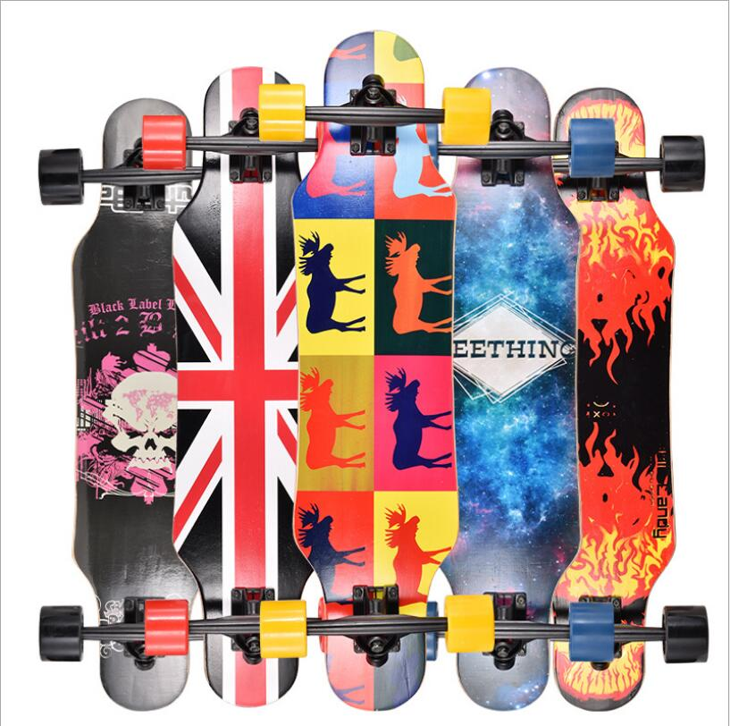 Mini Professional Skate Board Canadian Maple Longboard Skateboard Cruiser Four Wheel Cruiser Street Deck Waveboard Balance Board