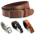 Homens cinto Strap luxo Casual couro Automatic Buckle Belt cintura L66