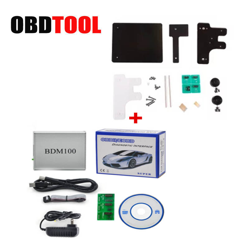 BDM100 V1255 + BDM Frame With Adapters Set Universal Programador Car ECU Programmer BDM 100 Fit for FGTECH Auto Scanner JC20