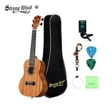 21 дюймов сопрано укулеле стартовый набор акустическая Sapele мини-Укулеле сопрано 4 нейлоновые струны 18 Лады для гитары для начинающих детей унисекс