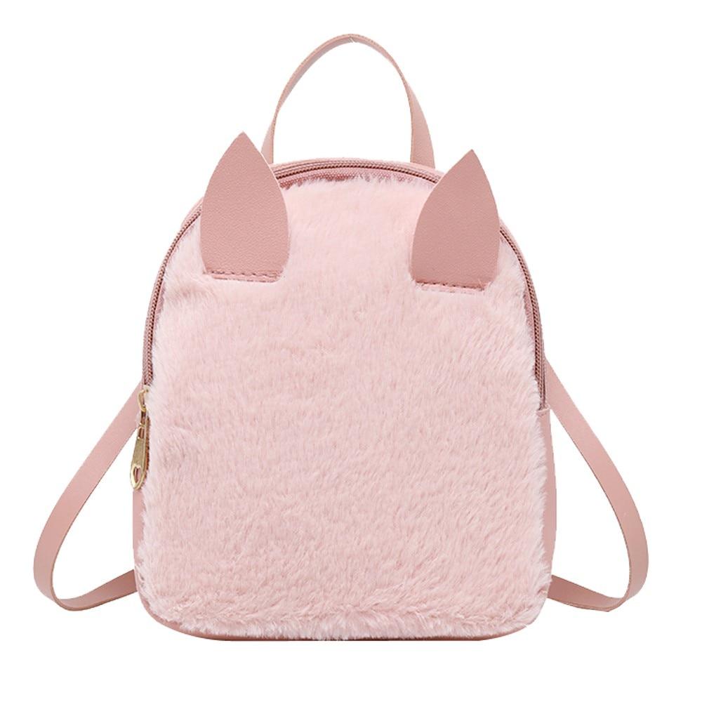 Sleeper #401 2019 Rabbit Hair Horn Shoulder Bag Mobile Phone Bag Purse Shell Type Messenger Bag Solid Color Hot Free Shipping
