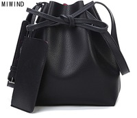 Free Shipping Fashion 2015 Candy Color Fashion All Match Bucket Bag One Shoulder Cross Body Women