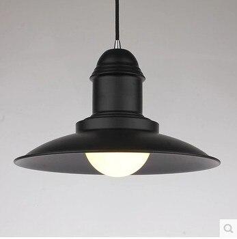 Loft Nordic industriale lampadario design bar retro ristorante nero lampadario in ferro battuto singola testa coperchio