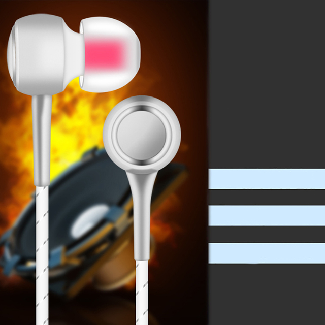 VPB V4 Sport Earphone Wired Super Bass 3.5mm Crack Earphone Earbud with Microphone Hands Free for Samsung