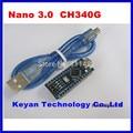 10 sets Nano 3.0 controlador compatível com nano arduino motorista CH340 USB com Cabo USB