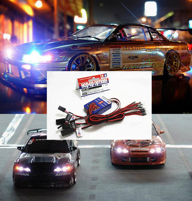 12 LED Lighting Kit Steering Brake Simulation Flash Light for 1/10 Scale Models RC Car Yokomo Tamiya HSP HPI AXIAL RC4WD Traxxas