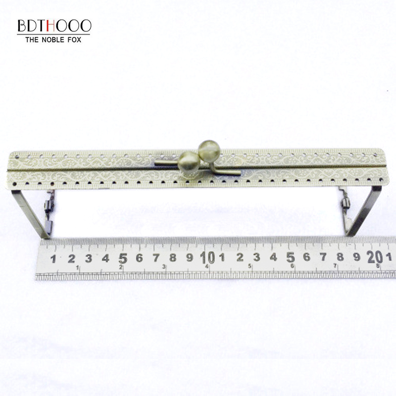 10 Sets 19cm Metal Handbag Purse Clutch Bag Frame Lock for DIY Purse Making