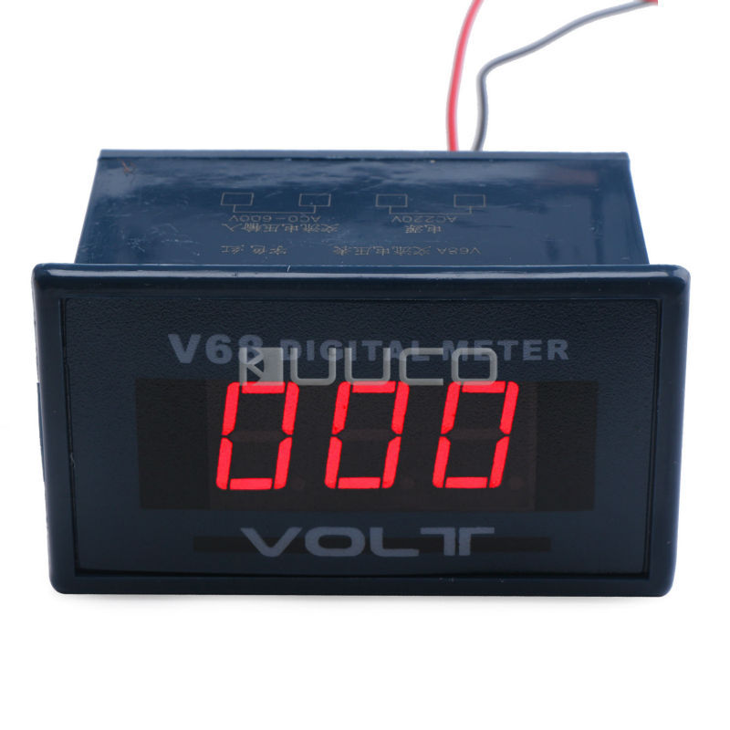 Digital Meter AC 0 ~ 600V Voltmeter 0.56 Red Led Display Voltage Meter AC 220V Voltage Monitor/Tester