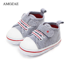 Newborn Baby Boy Girl Shoes First Walkers Infant Soft Sole Anti-slip Baby Shoes Toddler Classic Sports Sneakers For 0-18M