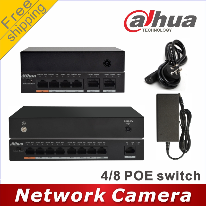Image 1 - Dahua PoE switch 4 +2 Port DH S1500C 4ET2ET DPWR PoE switch 8 +1 Port DH S1500C 8ET1ET DPWR Switch network cameras powered-in Surveillance Cameras from Security & Protection