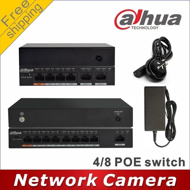 Dahua PoE switch 4 +2 Port DH S1500C 4ET2ET DPWR PoE switch 8 +1 Port DH S1500C 8ET1ET DPWR Switch network cameras powered