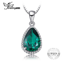 Luxury 3 7ct Emerald Pendant For Women 925 Sterling Silver Water Drop Emerald Jewelry Charms 925