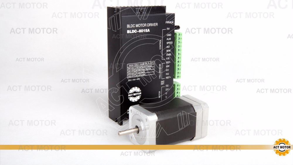 Free Ship From Germany!ACT Motor 1PC Brushless DC Motor 42BLF03 24V 78W 4000RPM 3Phase Single Shaft+1PC Driver BLDC-8015A 50V bldc motor driver controller 120w 12v 30v dc brushless motor driver bld 120a