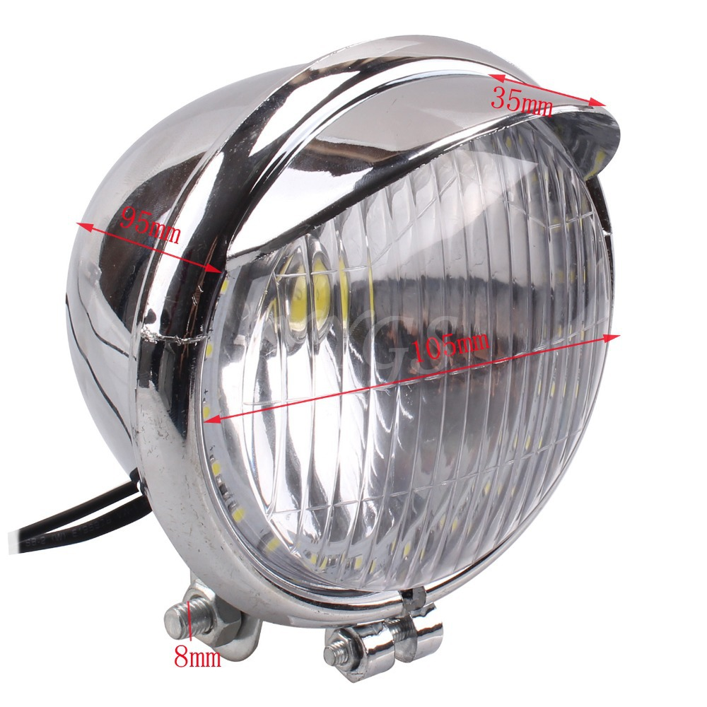 12V Universal Motorcycle 24 LED Angel Eye Light Fog Light 1COB LED Headlight font b Lamp