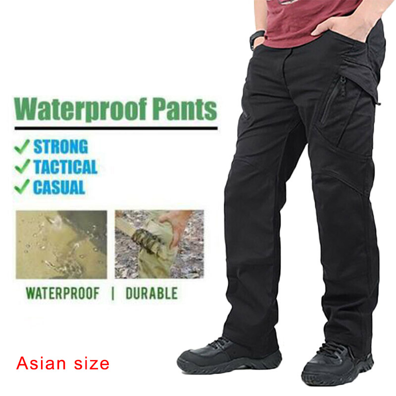 High Quality Men Waterproof Work Cargo Long Pants With Pockets Loose Trousers NDJ
