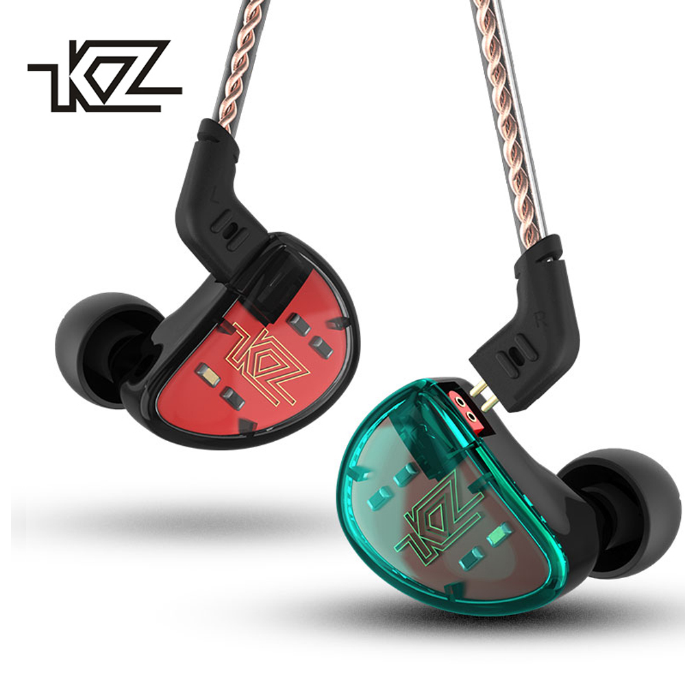 KZ AS10 5BA HIFI Stereo In Ear Headphone Balanced Armature Driver Headset Monitor Earphone Noise Cancelling Sports Hybrid Earbud kz as10 balance armature unit in ear earphone subwoofer stereo sport headset noise cancelling hifi detachable earbuds with mic