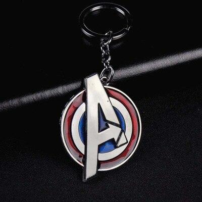 Металлический брелок Marvel, Мстители, Капитан Америка, щит, Человек-паук, Железный человек, маска, брелок, игрушки, Халк, Бэтмен, брелок, подарок, игрушки - Color: D-58