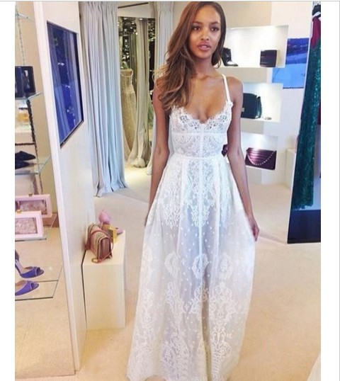 Aliexpress.com : Buy White Black Sexy Lace Dress big Brand Women ...