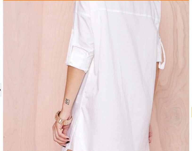 Online Shop 2xl Plus Size women summer white shirt female Ladies ...