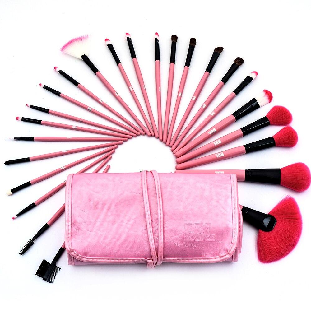 conjunto de pinceis de maquiagem profissional bbl kit com 24 pinceis de maquiagem para po base