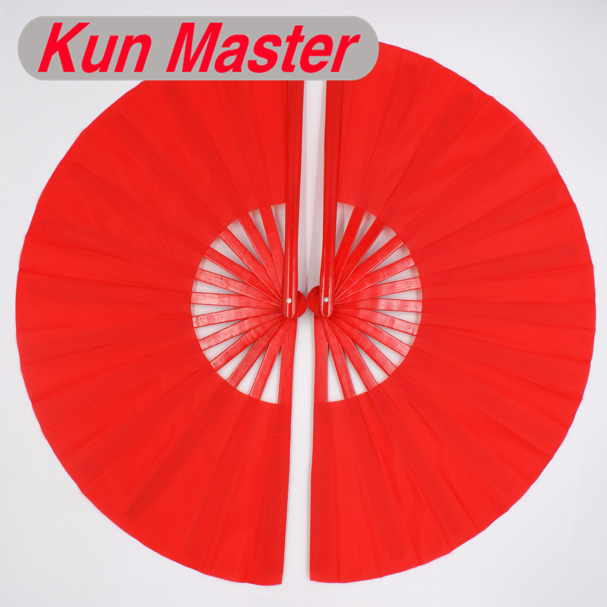 Bamboo Double Left And Right Tai Chi Performance Fan 20 Color Available  Martial Arts Fan Kung Fu Fans Red Color