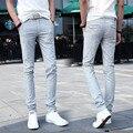 2016 primavera y el verano de algodón pantalones casuales hombres pantalones de los hombres pantalones de lino ocasionales pantalones Delgados pies