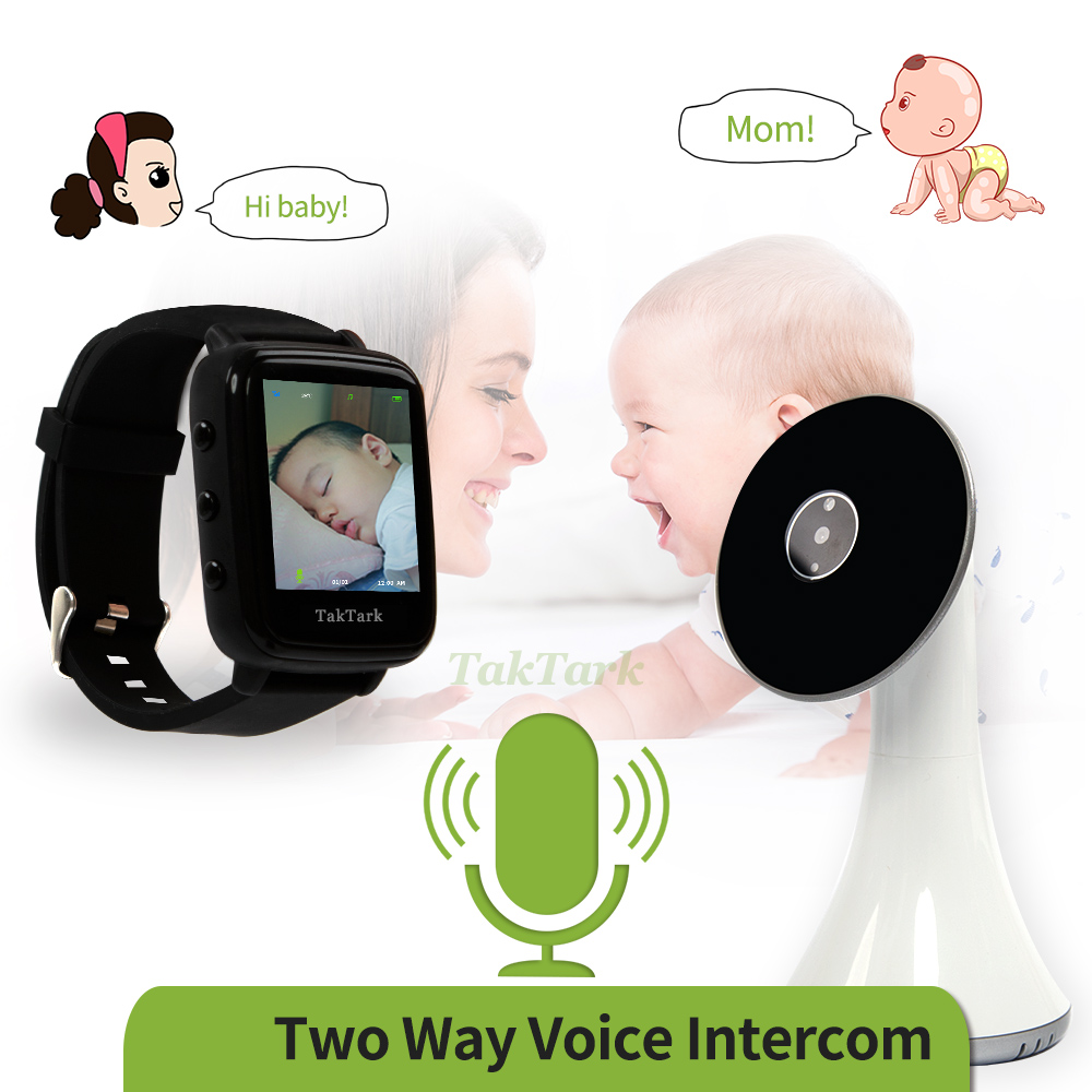 Image 4 - Wireless Video Watch Style Baby Monitor Portable shock vibration Baby Nanny Cry Alarm Camera Night Vision Temperature Monitoring-in Baby Monitors from Security & Protection