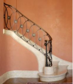 Hench 100% handmade forged custom designs wrought iron railings for sale Window Security Bars     - title=