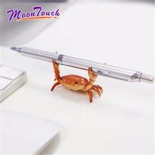 Soporte para lápices de cangrejo para levantamiento de pesas soporte para anteojos, estante para productos, bolígrafo de colocación, modelo de oficina, decoración creativa con doble abrazadera, cangrejos