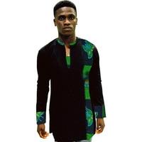 African Print Shirt Mens Dashiki Shirts Ankara Top Black & Multi Coloured African Mens Clothing Africa Designed Men's Outfit