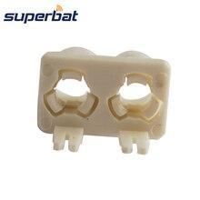 Superbat Fakra B белый/9001 двойной пластиковый корпус радиочастотный коаксиальный штепсельный разъем печатной платы, автомобильные радио антенны Intoface