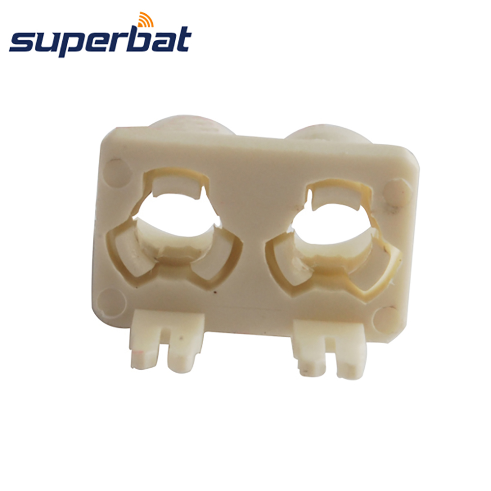 Superbat Fakra B White/9001 Double Plastic Shell RF Coaxial Of Male Plug Connector PCB Mounted Car Radio Antennas Intoface