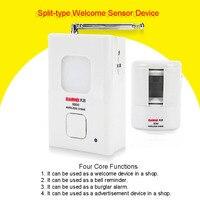Pir Draadloze Infrarood Beweging Winkel Entry Deurbel Welkom Alarm Chime Motion Sensor Detector Sensor De Movimiento|Sensor en detector|   -