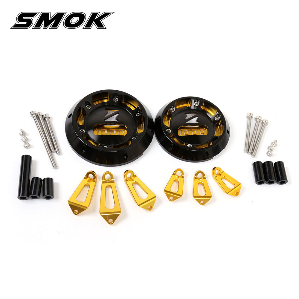 SMOK Motorcycle CNC Aluminum Alloy Engine Protective Cover Guard For Kawasaki Z1000 Z1000SX Ninja 1000 2011-2014 2015 2016 cnc aluminum frame fuel injection injector cover protector guard for kawasaki z1000 2014 2016 14 15 16
