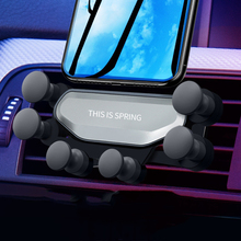 Car Gravity Phone Holder Fix in Air Vent Clip Mount Mobile Phone Holder GPS Stand For Universal Car universal gravity air vent mount gps stand car phone holder bracket supplies gravity car holder for phone in car air vent clip m